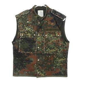 Vintage Bejeweled Army Vest